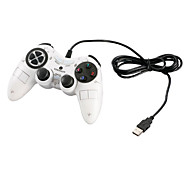 VINYSON USB Wired Dual-Shock Gaming Controller for PC (White)