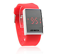 red Silikon-Band Unisex-rote LED Sport-Armbanduhr