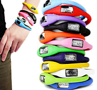 Unisex Colorful Silicone Digital Anion Bracelet Watch (10pcs) Cool Watches Unique Watches