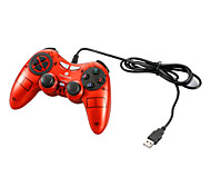 VINYSON USB Wired Dual-Shock Gaming Controller for PC (Red)