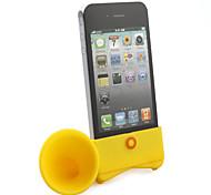 support haut-parleur se corne pour iPhone 4 (jaune)