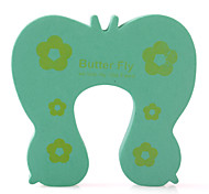 Child Safety Cartoon Door Stop Green