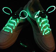 Flash crescer vara luz verde à prova d'água LED cadarço (1 par)