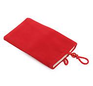 celular de moda bolsa de terciopelo para el iPhone (rojo)