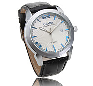 Leather Band Automatic Mechanical Wrist Watch For Men