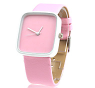 Fashionable Quartz Wrist Watch with Pink PU Band