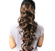 "High Quality Synthetic 21.63"" Dark Brown Curly Ponytail"