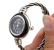 Quartz Watch with Metal Rope Watch Strap - Black Face