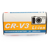 2000mAh Camera Battery RCR-V3 for CASIO GV-20,KODAK CX SERIES and More