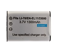 1300mAh Camera Battery D-LI78(EL11 60B) for Pentax Optio M50 and More