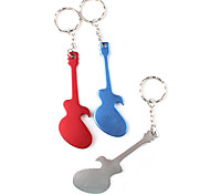 Guitar Shaped Bottle Opener Keychain (Random Color)