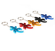 Wall Lizard Shaped Bottle Opener Keychain (Random Color)
