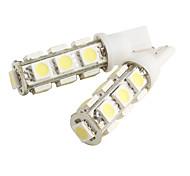 T10 2W 13x5050 SMD White Light LED Bulb for Car (2-Pack)