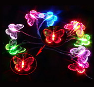 2.5M 3W 10-LED Colorful Light Butterfly Shaped LED String Lamp for Festival Decoration (3xAA)