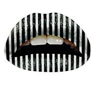5 pezzi in bianco e nero labbro adesivo temporanee, tatuaggio