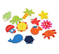colorida vida marina imanes de nevera temáticos (12-pack)