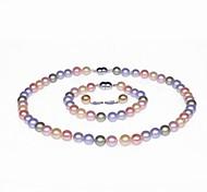 simple brin aa + collier de perles, bracelet et boucles d'oreilles set (plus de couleurs)