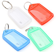 Mini  Plastic Travel Luggage Tag (4 Pcs)