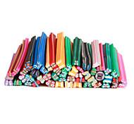 50pcs 3d cana-de-pau etiqueta vara nail art decoração borboleta-sets