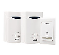Home Security Digital Wireless Doorbell with 38 Melodies (2Pcs)