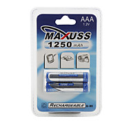1250mAh 1.2V Ni-MH Rechargeable Battery (2 x AAA)