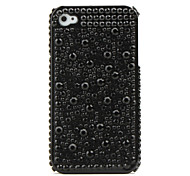 Custodia rigida con strass per iPhone 4 - Nero