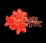 Celada Flores Boda/Ocasión especial Satén/Perla Artificial Mujer Boda/Ocasión especial