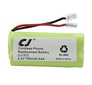 2.4V 700mAh teléfono inalámbrico de sustitución de la batería Ni-MH cj-312