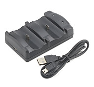 usb dual dock di ricarica per controller PS3 wireless (nero)