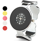 Round Face Alloy Band Quartz Wrist Watch For Women