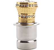 Car Cigarette Lighter with Decorative Gold Crystals (Golden)