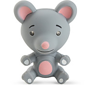 Mouse Keychain with LED Flashlight and Sound Effects (Grey)