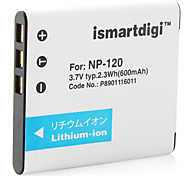 Ismart Digital Camera Battery for Casio Exilim EX-S200