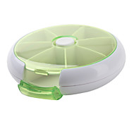 7Days Round Plastic Storage Box Pill-box(Ramdon Color)