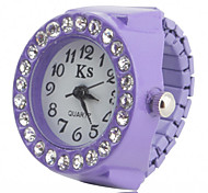 Women's Alloy Analog Ring Watch with Diamond (Assorted Colors) Cool Watches Unique Watches