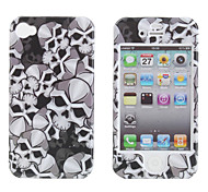 Protective Smooth Polycarbonate Front and Back Case for iPhone 4 and iPhone 4S (Skull)