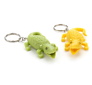 Plastic Crocodile LED Keychain Flashlight (Random colors)