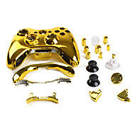 Replacement Housing Case for Xbox 360 Controller (Gold)