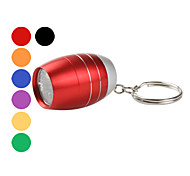 Mini 6-LED Oil Tank Shape Flashlight with Keychain (Assorted Colors)
