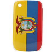 Bandera del Ecuador patrón de estuche protector para blackberry 8520 y 8530