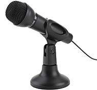 премия 3,5 микрофон с подставкой для ПК и ноутбуков (черный)