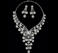 Gorgeous Rhinestone Two Piece Costume Ladies' Jewelry Set (45 cm)