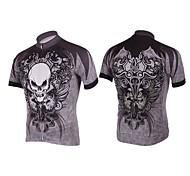 Kooplus-Mens Short Sleeve Clcying Jersey (Spider & Skulls)
