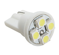 T10 3528 SMD 4-LED White Light Bulb for Car (DC 12V, Set of 4 pcs)