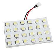 BA9S/Festoon/T10 7W 24x5050 SMD 450-480LM White Light LED Bulb for Car (DC 12V)