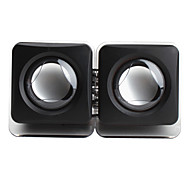 Portable Wired 3.5mm USB Cube Style Black Speakers For iPhone MP4 MP3 Tablet PC Cellphone