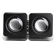 altavoces negros del estilo del cubo de 3,5 mm con cable usb portable para el iPhone MP3 MP4 PC de la tableta del teléfono móvil