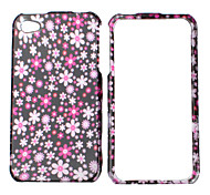Floral Pattern Bumper and Case for iPhone 4 and 4S (Red)