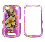 viola in stile floreale caso paraurti posteriore e telaio per blackberry 9380 (rosa)