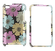 Stylish Flower Style Protective Back Case and Bumper Frame for iPod iPod Touch 4
